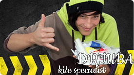 Dr Tuba kite repairs kite advertizng